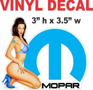Mopar Pinup Girl - Nice - Die Cut To Shape