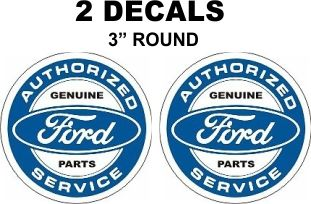 2 Ford Authorized Parts and Service Decals