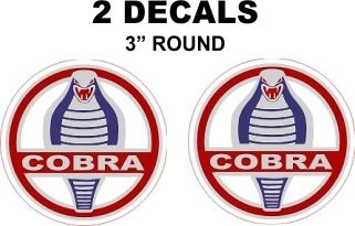 2 Ford Cobra Decals - Custom Sizes Available