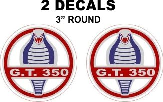 2 Ford GT 350 Decals - Custom Sizes Available