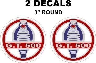 2 Ford GT 500 Decals - Custom Sizes Available