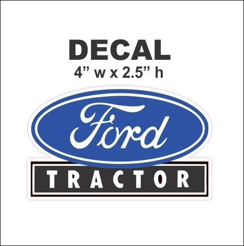 1 Blue Ford Tractor Decal