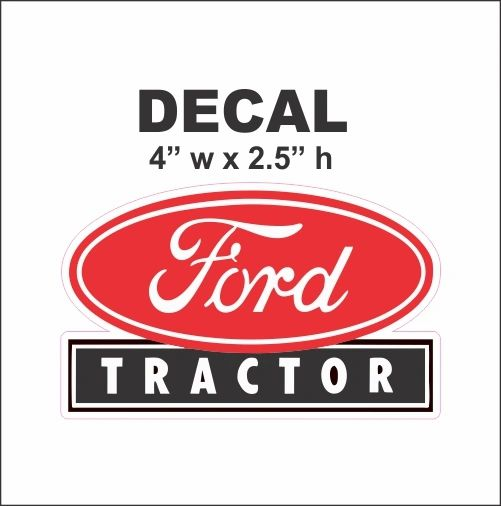 1 Red Ford Tractor Decal