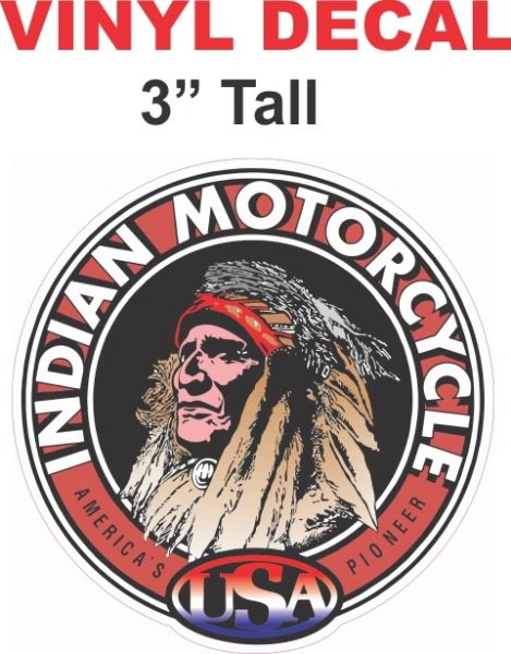 Indian Motorcycle Decal - Nice