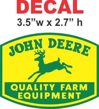 John Deere 1950 decal
