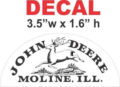 John Deere Oval Top Decal