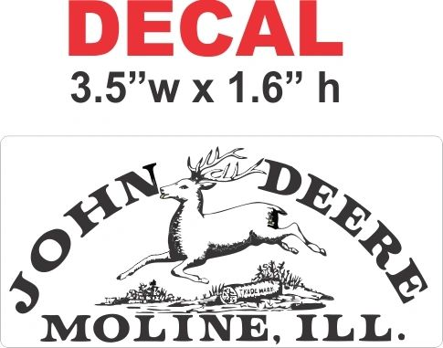 John Deere 1876 Decal