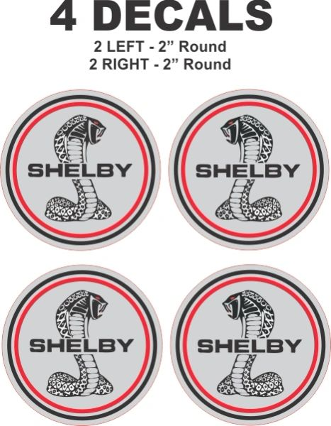 """4 - 2"""" Shelby Mustang Decals"""