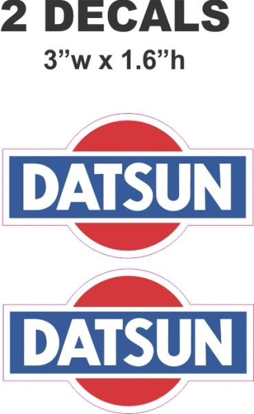 2 Datsun Decals - ie Cut To Shape - Nice
