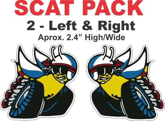 2 Scat Pack Left and Right Decals.