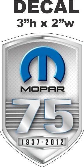 Mopar 75th Anniversary Decal