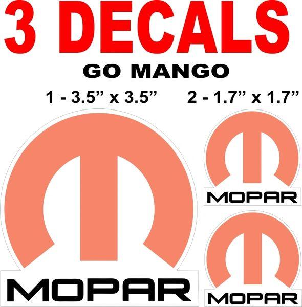 3 Mopar Go Mango Decals