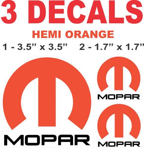 2 Mopar Hemi Orange Decals