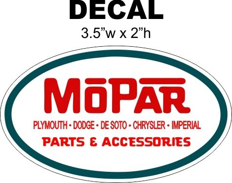 2 Mopar Parts and Accessories Oval Decals