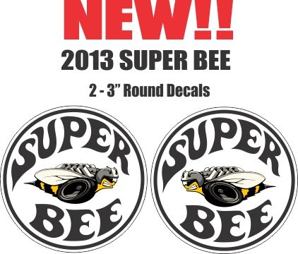 2 New Style 2013 Super Bee Decals