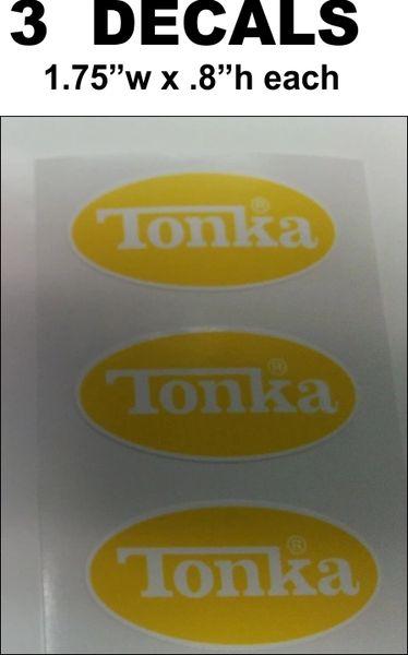 2 Yellow / White Tonka Decals