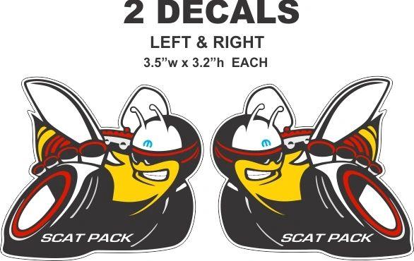 2 New Style 2013 Mopar Scat Pack Decals