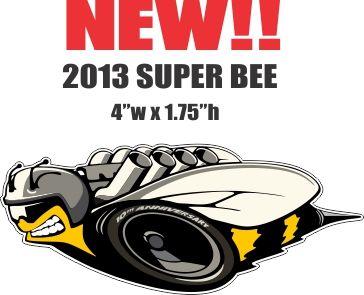 1 Left Facing New Style Mopar Super Bee - Die Cut To Shape
