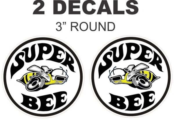 2 Mopar Super Bee Decals = Very Nice - Colors Available