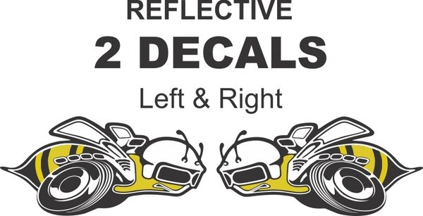 2 OEM Size - 3M Reflective Super Bee Decals- Very Nice