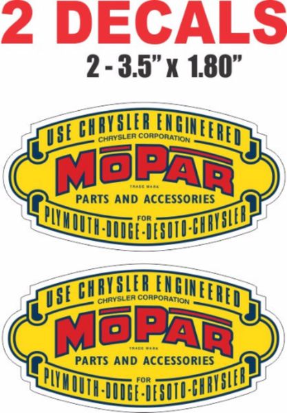 2 Vintage Style Mopar Parts and Accessories - Nice and Sharp!
