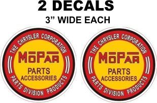 2 Mopar Parts and Accessories Decals = Nice and Shapr