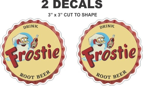 2 Frostie Root Beer Decals - You will not find a nicer decal!! If You Do, I will refund you 100% including Shipping