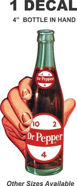 4 Inch Dr. Pepper Bottle In-Hand