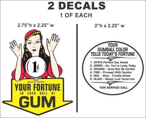 Vintage GGypsy Fortune Teller 1 cent Gumball Machine Oak Acorn Northwestern Decal