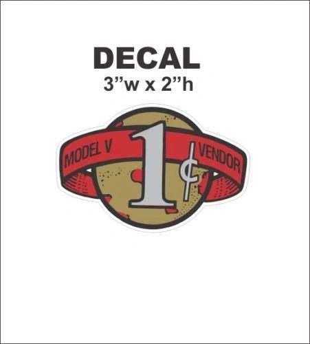 Oak Acorn Victor Vending Vendor Gumball Machine Topper 1 cent Vendor Vinyl Decal