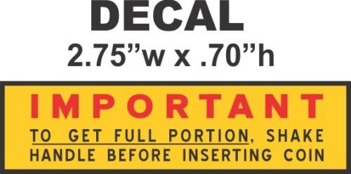 Oak North Ajax Deluxe Hot Nut Vending Vendor Machine Yellow Portion Vinyl Decal