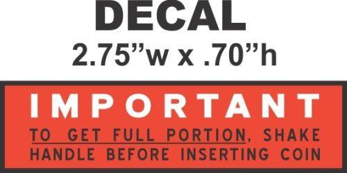 Oak North Western Ajax Deluxe Hot Nut Vending Vendor Machine Portion Vinyl Decal
