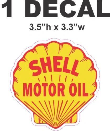 1 Shell Motor Oil Vinyl Decal