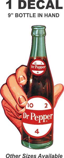 9 Inch Dr. Pepper Bottle In-Hand