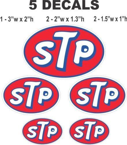 5 STP Oil Racing Vinyl Decals