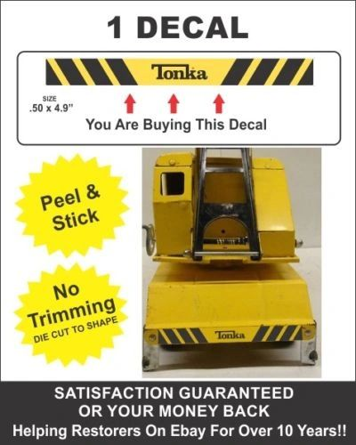 Tonka Mighty Dump Truck Car Carrier Crane Dozer Shovel Wrecker Bumper Decal