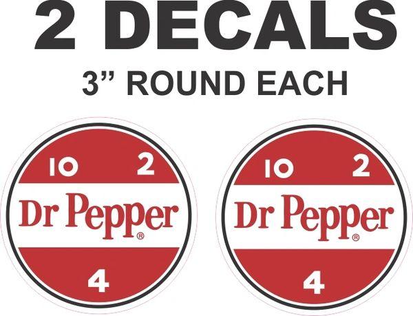 2 Dr Pepper Round Decals
