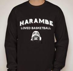 Harambe Loved Basketball Long Sleeve Shirt