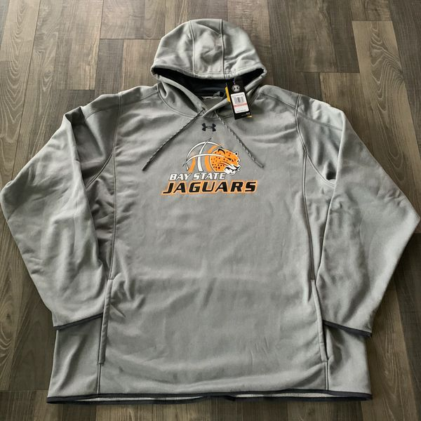 🎁 IN STOCK - 3X - Bay State Jaguars Mens UA Double Threat Armour Fleece Hoody