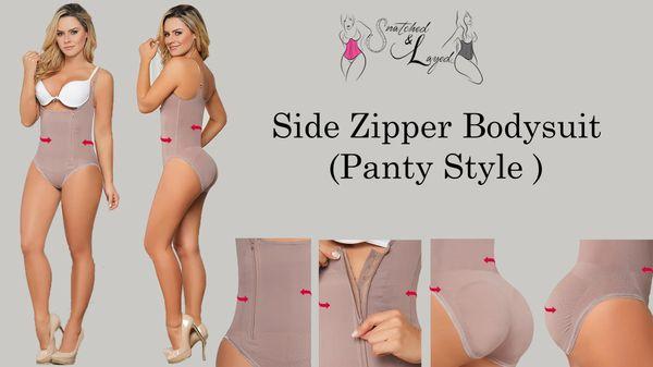 Side Zipper Bodysuit (Side zipper, panty style)