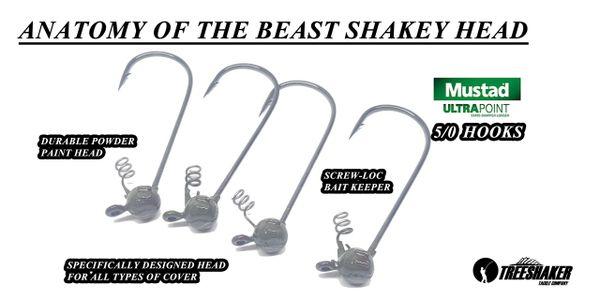BEAST Shakey Head 4pk