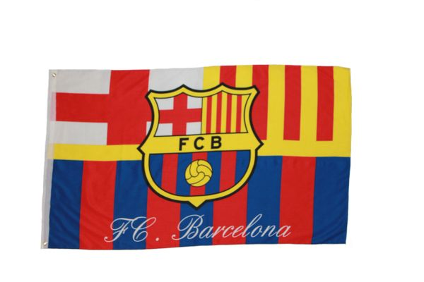 BARCELONA FIFA SOCCER WORLD CUP 3' X 5' FEET FLAG BANNER .. NEW AND IN A PACKAGE