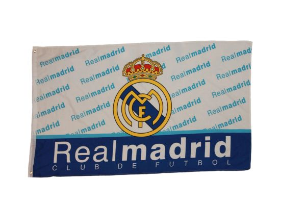 REAL MADRID FIFA SOCCER WORLD CUP 3' X 5' FEET FLAG BANNER .. NEW AND IN A PACKAGE