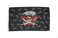 PIRATE WITH HAT & CROSS SWORDS 3' X 5' FEET FLAG BANNER .. NEW AND IN A PACKAGE