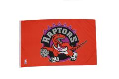 TORONTO RAPTORS NBA LOGO 3' X 5' FEET FLAG BANNER .. NEW AND IN A PACKAGE