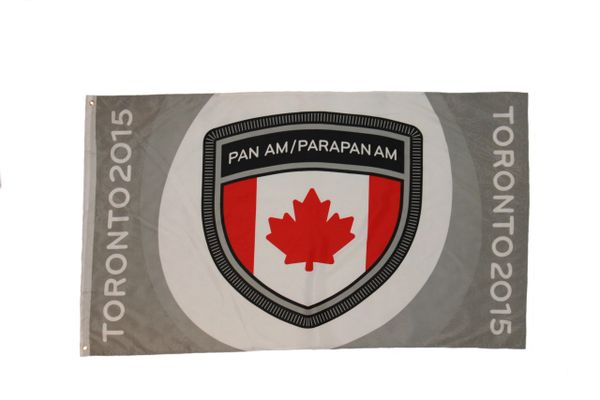 CANADA PAN AM 3' X 5' FEET FLAG BANNER .. NEW AND IN A PACKAGE