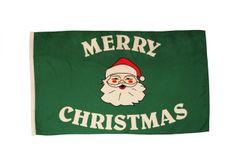 SANTA CLAUS MERRY CHRISTMAS GREEN 3' X 5' FEET PICTURE FLAG BANNER