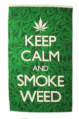 KEEP CALM AND SMOKE WEED BLACK GREEN 5' X 3' FEET PICTURE BANNER FLAG