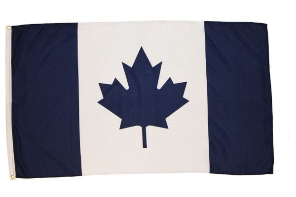 CANADA BLUE 3' X 5' FEET PICTURE FLAG BANNER.. NEW