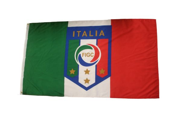 ITALIA ITALY COUNTRY FLAG & FIFA WORLD CUP FIGC LOGO 3' X 5' FEET PICTURE FLAG BANNER